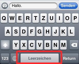 apple-iphone-leerzeichen