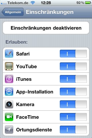 Kindersicherung App Iphone
