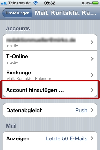 how to change itunes account on ipod