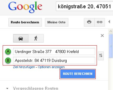 google maps reiseroute per e mail an alle mitreisenden. Black Bedroom Furniture Sets. Home Design Ideas