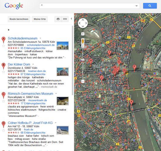 google maps umgebungssuche was gibt s in der n he. Black Bedroom Furniture Sets. Home Design Ideas