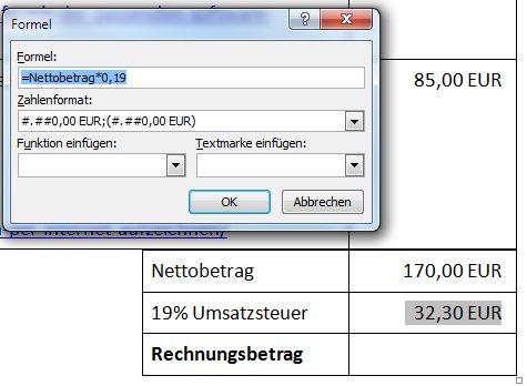 word rechnungen  tabellen rechnen und  rechnungen