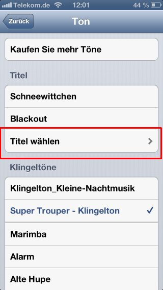 iphone wecker beliebige musiktitel und mp3 songs als weckmelodie verwenden tipps tricks kniffe. Black Bedroom Furniture Sets. Home Design Ideas