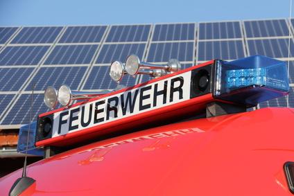 Feuerwehr Solarzellen