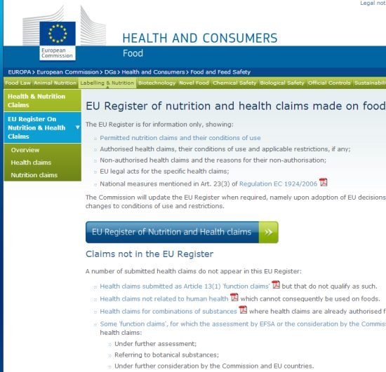 eu-kommission-werbung-auf-produkten-verboten-erlaubt-liste-datenbank