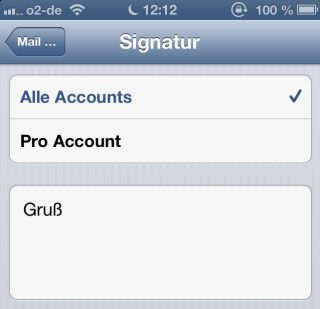 iphone-mehrere-signaturen-pro-account-e-mail